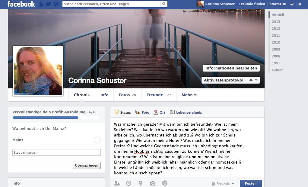 Was ich über Facebook denke