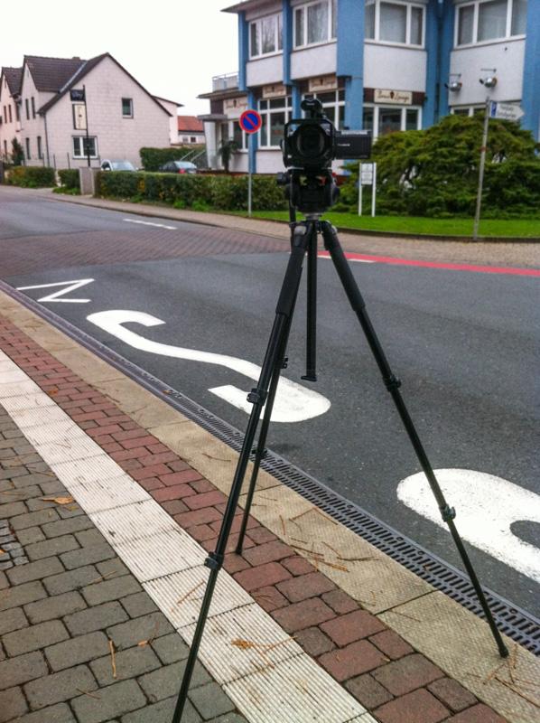 Videokamera an der Hauptstraße