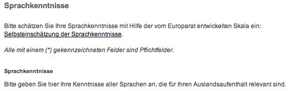 Screenshot der Hochschule Darmstadt zum Ausland