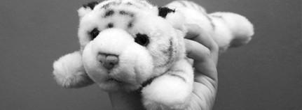 Ein Spielzeug-Tiger