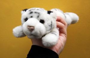 Ein Kuscheltier-Tiger