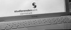 Logo des Studierendenwerk Darmstadt am Laptop