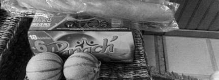 Panach', Melone und Baguette