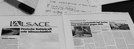 Die Zeitung in der Entstehung